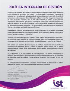 politica de calidad 2014