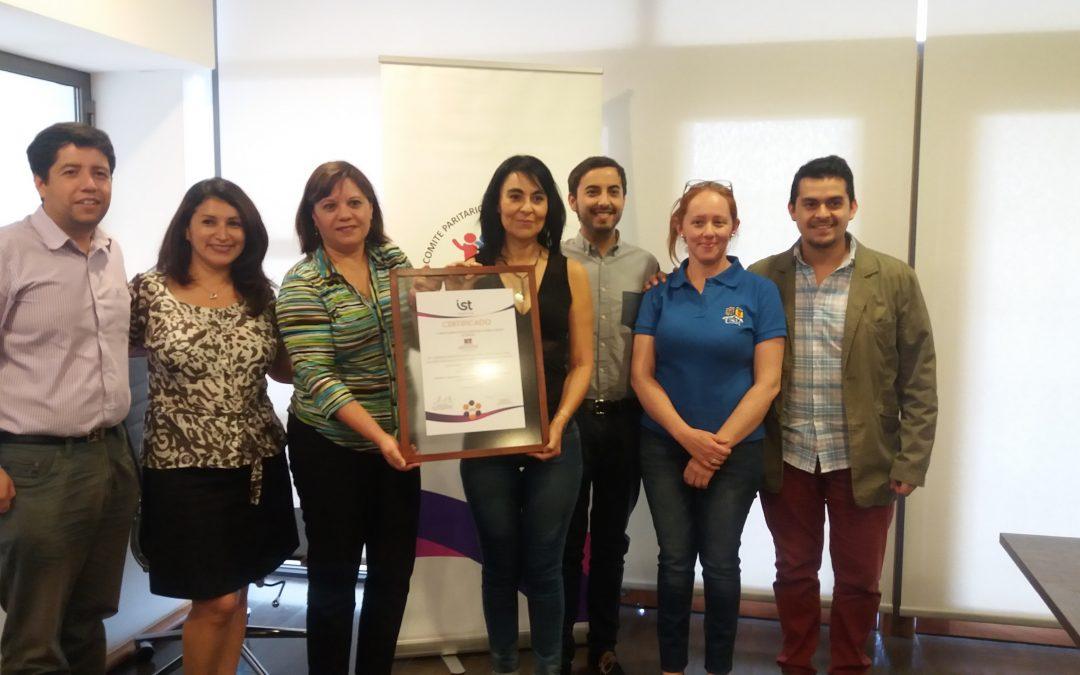 IST certifica a comité paritario de UTFSM, campus San Joaquín