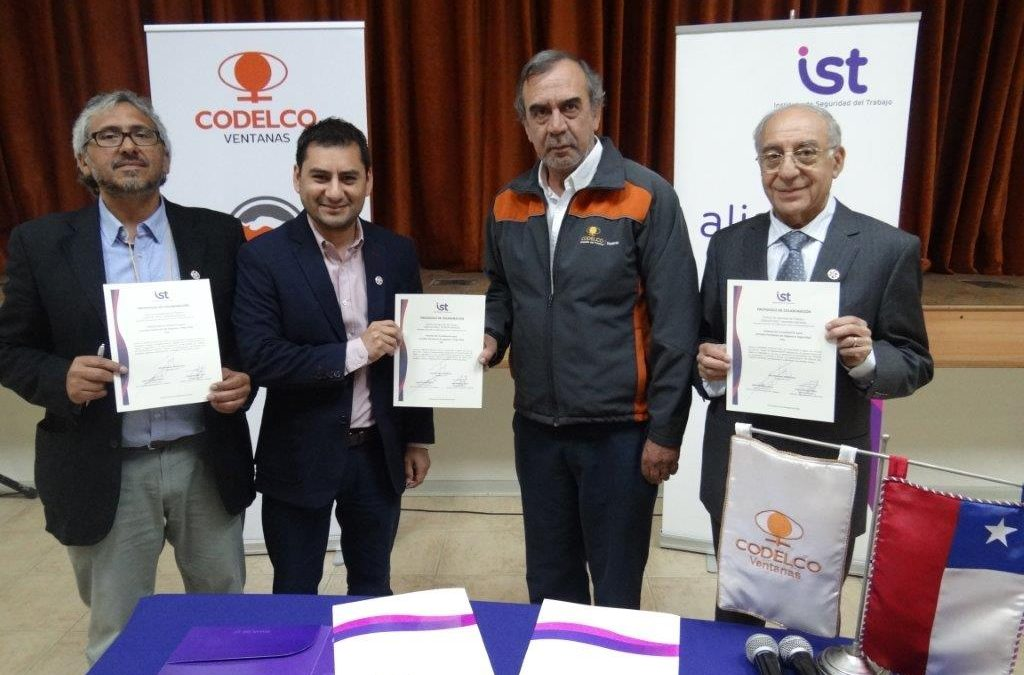 IST firma convenio de colaboración de CPHS con Codelco