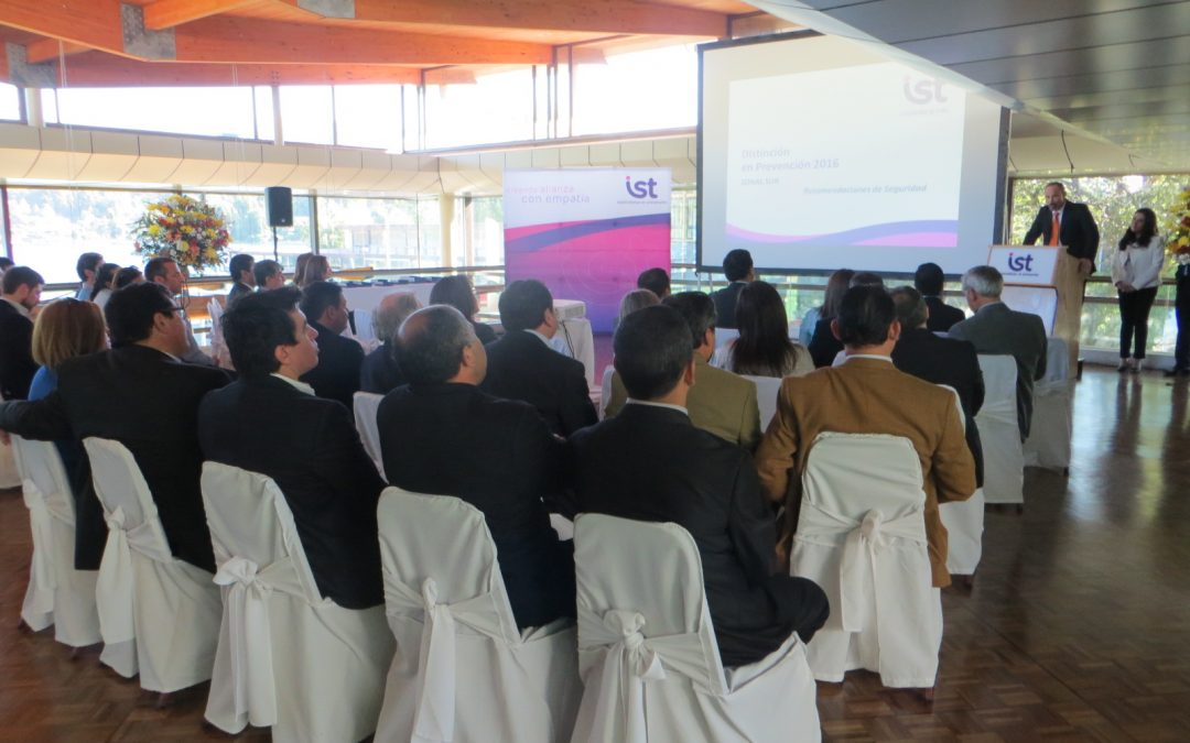 IST Zonal Sur premió a empresas adherentes por su destacada gestión preventiva