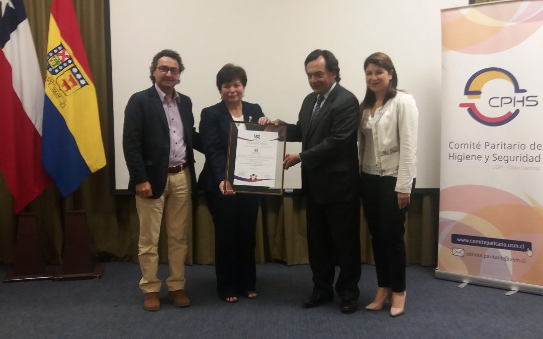 IST certifica a CPHS de la UTFSM, Campus Casa Central Valparaíso