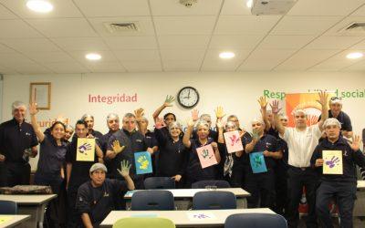 Amcor Flexibles Santiago Norte se une a campaña preventiva por el cuidado de las manos