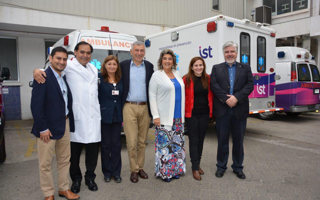 Autoridades visitan a pacientes del IST para conmemorar el Día del Trabajador