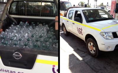 Equipo del IST de Antofagasta acudió con material de ayuda y agua a Chañaral