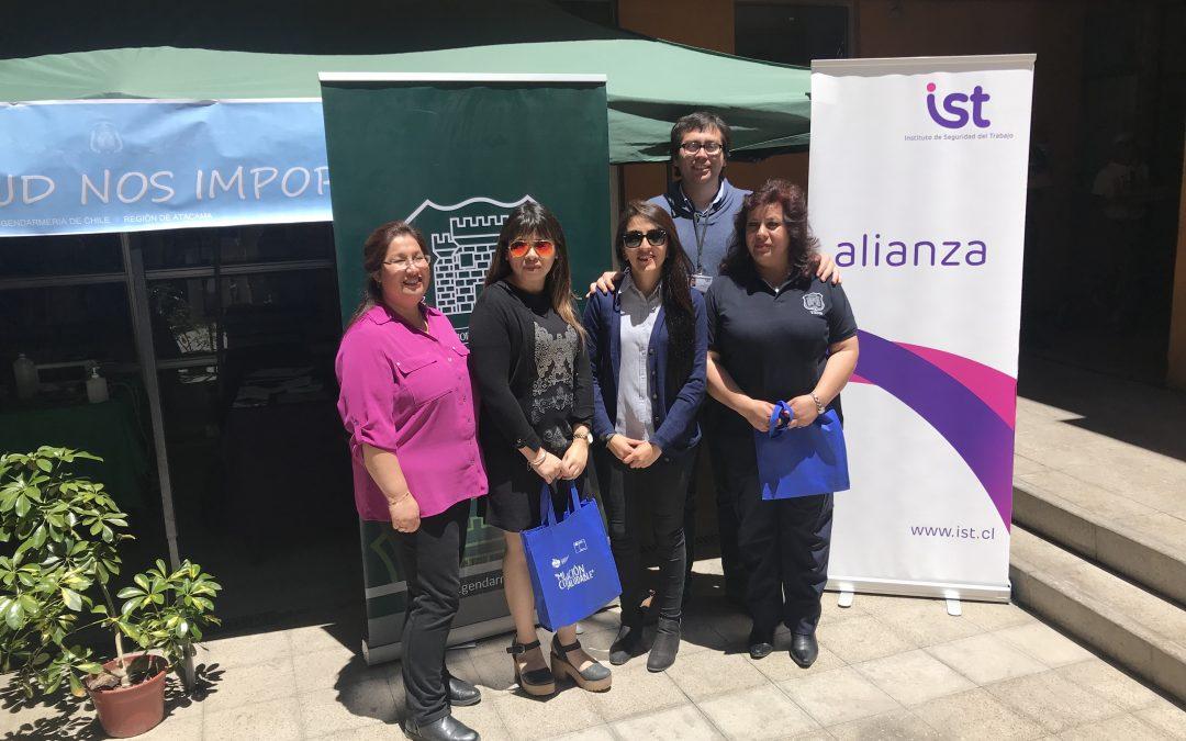 IST participa en Primera Feria Saludable Gendarmería de Chileen Copiapó