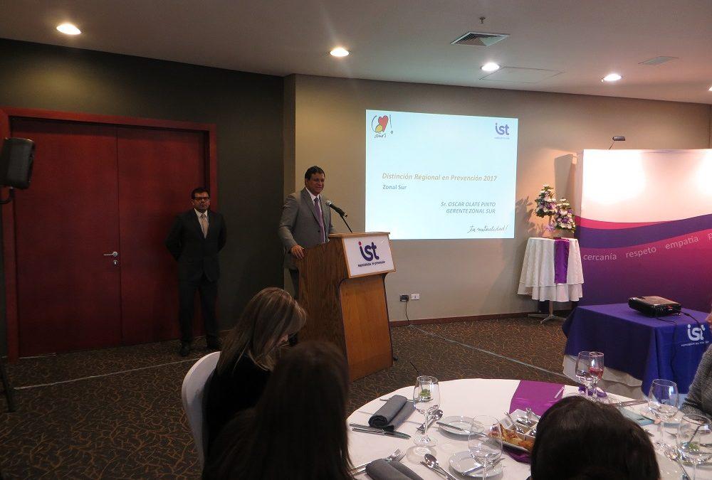 IST Temuco realiza exitosa primera versión de Distinciones en Prevención