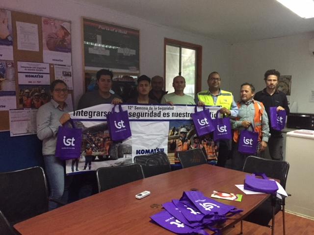 IST participó en semana de la seguridad de Komatsu Mining