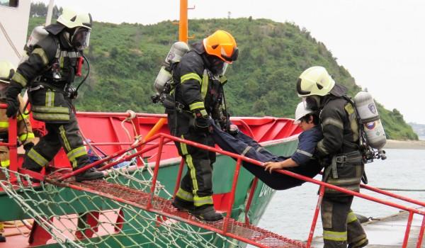 IST participa en simulacro de emergencia de Armasur y Bomberos