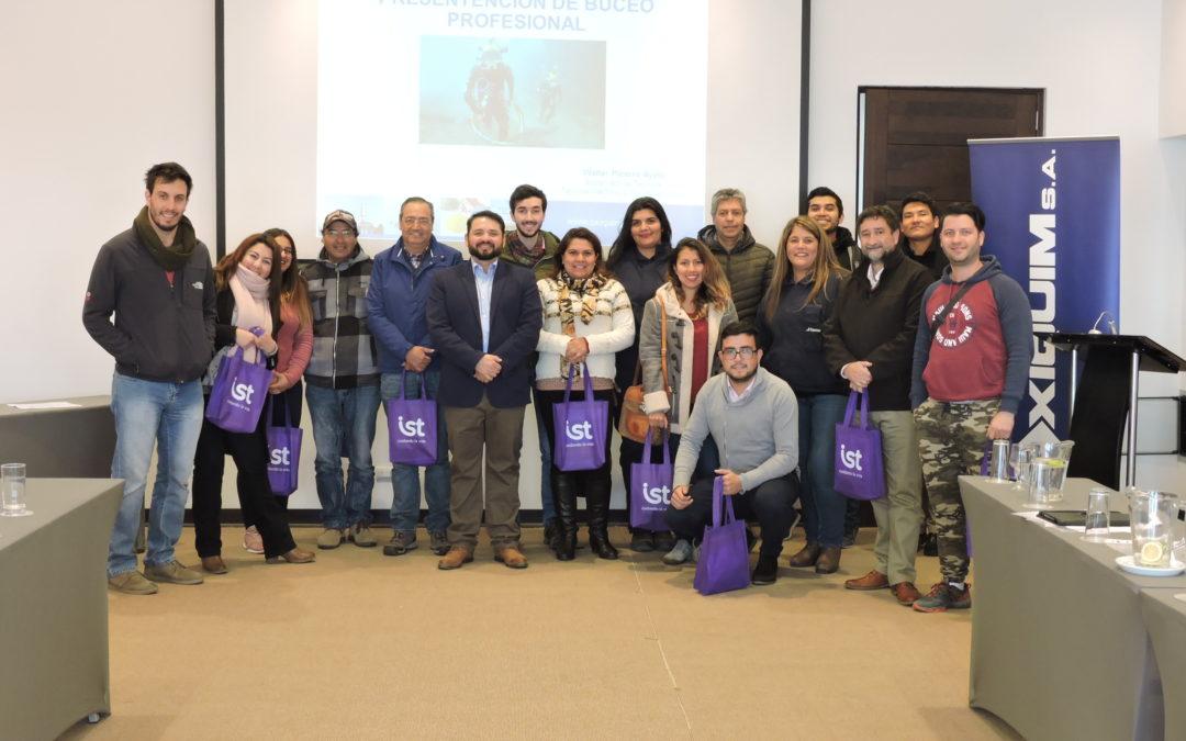 IST apoyó curso preventivo de Buceo Profesional organizado por Oxiquim