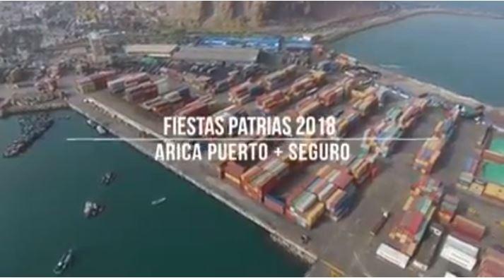 VIDEO: Terminal Puerto Arica lanza campaña preventiva para las Fiestas Patrias