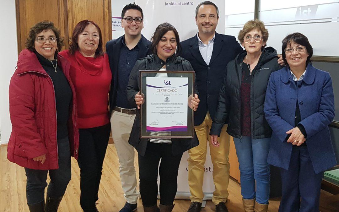 IST entrega certificación SAC a Sociedad Hemodiálisis Valparaíso