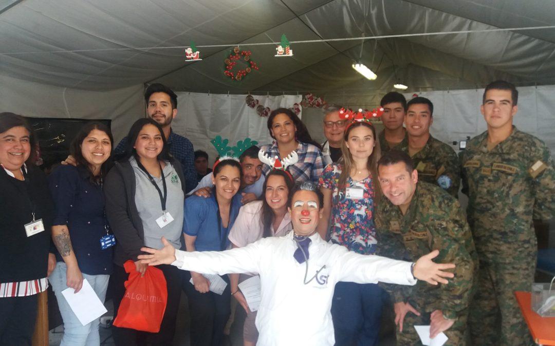 Visita del Dr. Cuidado IST al Hospital Adriana Cousiño de Quintero