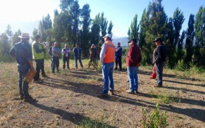 Taller de prevención de incendios forestales en empresa agrícola El Chuico Blanco