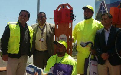 IST entrega implementos de seguridad para playas de Los Vilos