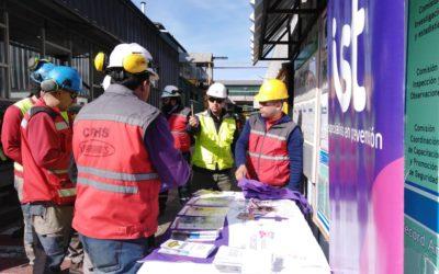 IST participa en campaña sobre el buen uso del celular en Planta Viñales de Arauco
