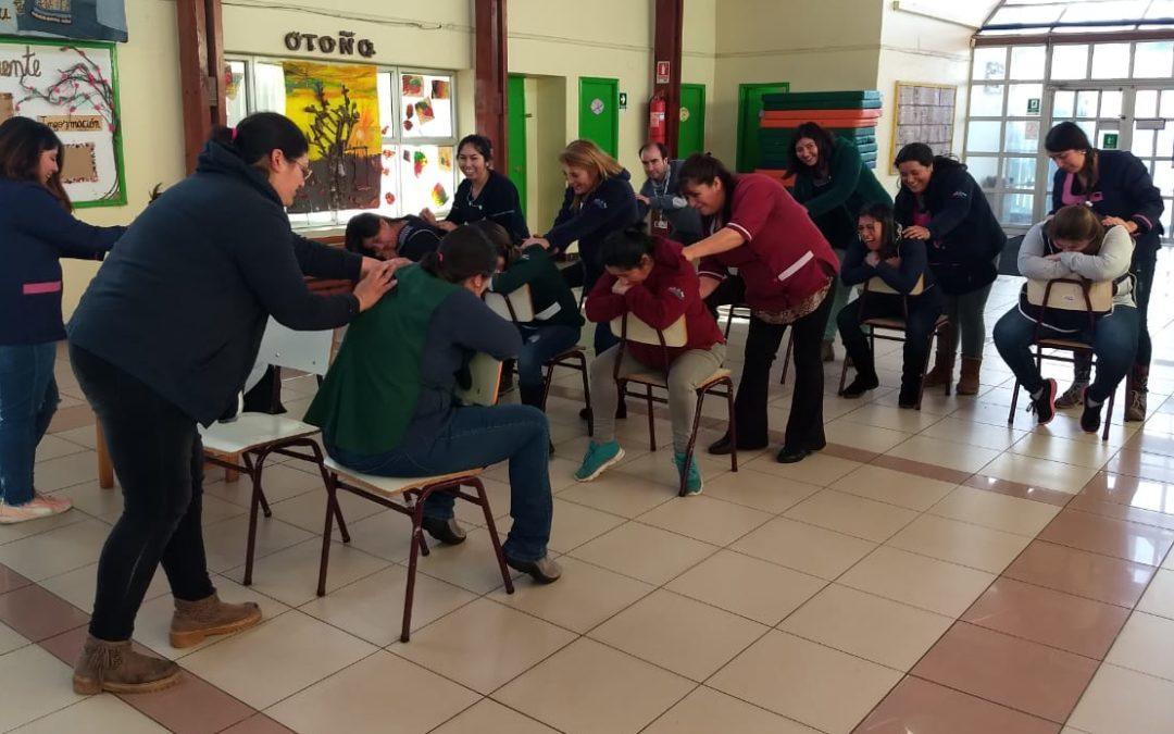 Taller de cuidado de la columna vertebral en jardín infantil de Puerto Montt