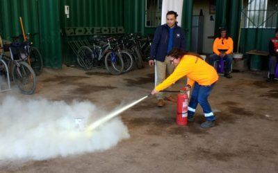 Capacitación en prevención de incendio y uso de extintores