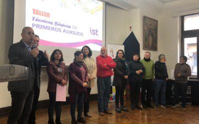Curso de Primeros Auxilios a funcionarios de la Municipalidad de Valparaíso