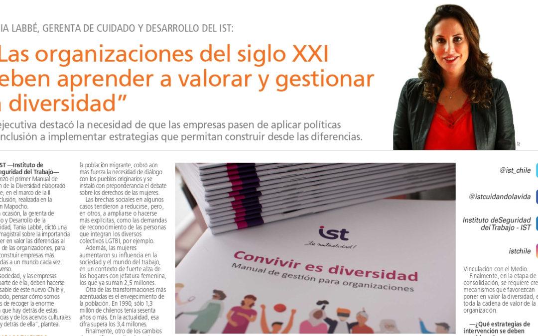 IST lanza manual de gestión para la diversidad al interior de las organizaciones