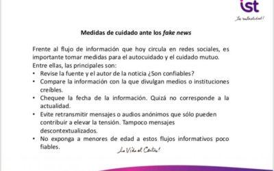 Medidas de cuidado ante fake news