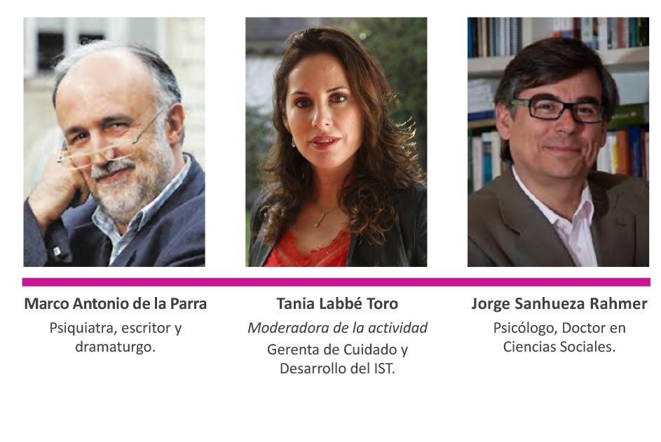 Marco Antonio De La Parra, Tania Labbé Toro y Jorge Sanhueza Rahmer