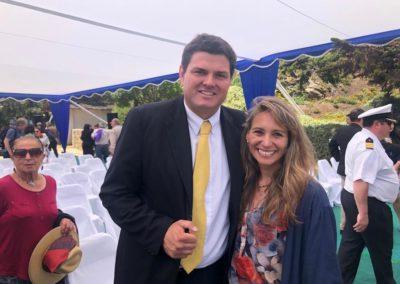 Alcalde de Zapallar, Gustavo Alessandri, y la gerente zonal (i) del IST, Marcela Ahumada
