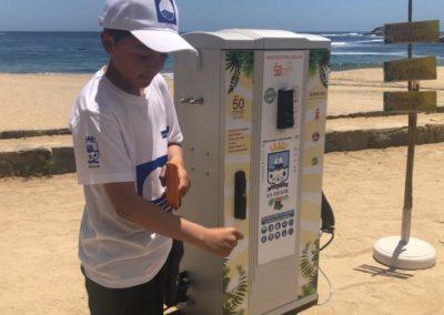 Dispensadores solares gratuitos en la playas de Zapallar