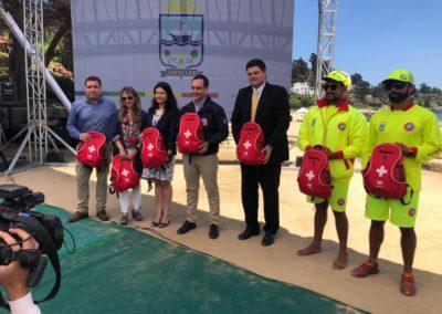 IST aportó mochilas botiquines al municipio de Zapallar