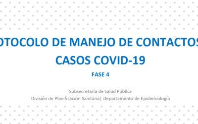 CoVID-19: Protocolo Minsal de manejo de contactos de casos