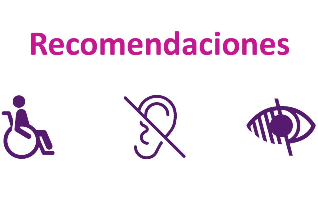 Recomendaciones para personas en situación de discapacidad ante el COVID-19