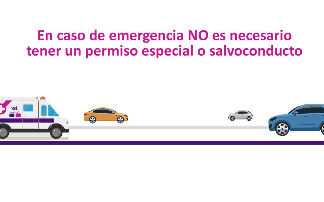 Emergencias: traslado a Hospital IST no requiere salvoconducto