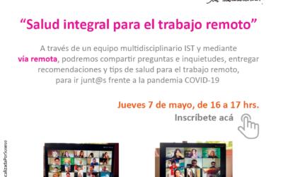 """5to Streaming """"Salud integral para el trabajo remoto """""""