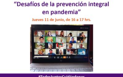 """10ma versión de Espacio de cuidado de equipos """"Desafíos de la prevención integral en pandemia"""""""