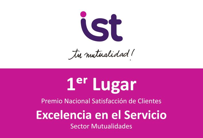 Por cuarto año consecutivo IST obtiene el premio PROCALIDAD en satisfacción de clientes, sector mutualidades