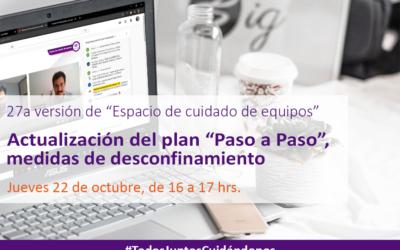 """Actualización del plan """"Paso a Paso"""", medidas de desconfinamiento"""