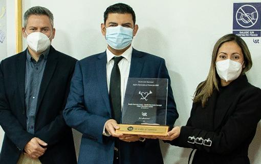Premio Distinción Nacional año 2020 Aporte Destacado en Prevención a nuestra empresa adherente AES GENER S.A.